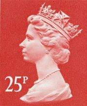 25p Discount GB Postage Stamp